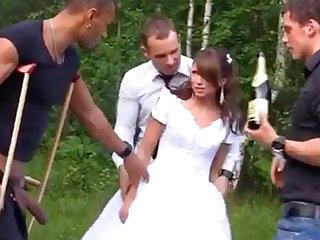 XXX Bride with Foursome Gangbang