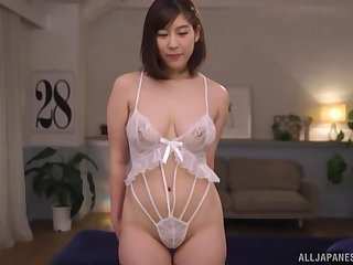 Japanese MILF with on the up tits Otomi Rina gets a hard doggy style