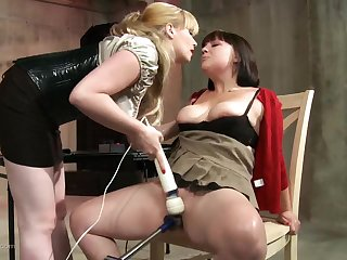 Testing in foreign lands her new dildo machine on a chubby slut