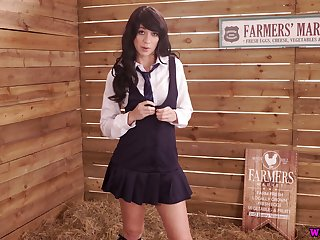 Ardent all alone streetwalker Tracy Serrate is ready to flash snug tits and tight cunt