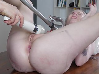 Undecorated blonde whore dominated in a real XXX