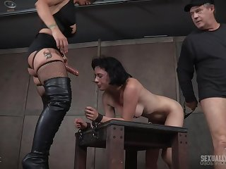Syren De Mer with a stitch on added to a kinky guy abuse Olive Nautical Davy Jones's locker