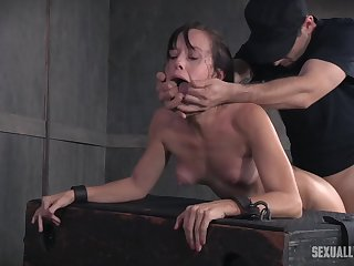Alana Cruise poked in the eyeshot with cock and made to cry while abused