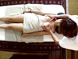 Young debutante filmed during massage