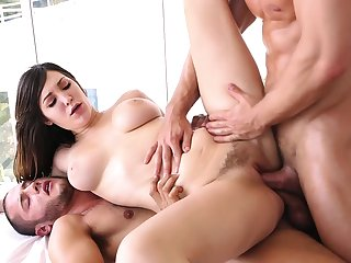 Thrilling brutal gangbang with amazing babe Holly Michaels