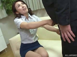 Japanese unilluminated MILF Mizuno Yuuka doggy fucked in lingerie