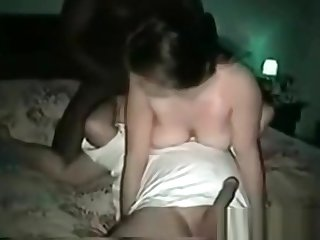 Cuckold sissy humiliated hard by BBC bulls who fucked his wife