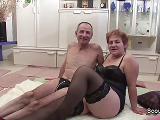 Grandma and grandpa in first era casting copulate for confident