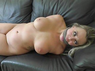 Blond Hair Lady Arousing Bondage Scene Clubby - HQ