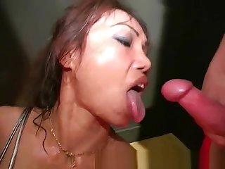 Thai Suzy cum spunk bukkake queen