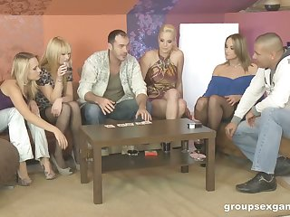 Three swinger couples swap their copulation partners and enjoy crazy group copulation