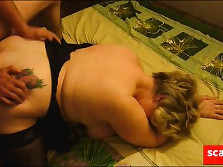 Friend fucks mature fat girl in front be expeditious for her cuckold cut corners