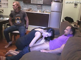 Slutty girlfriend Rosa Mentoni is fucked move up tied up cuckold boyfriend