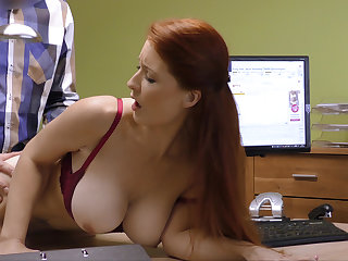 Attractive boobs for recompense manager. Redhead