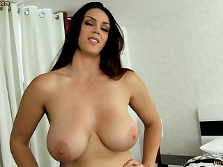 Sensual dark-haired with chunky funbags, Alison Tyler luvs to deep-throat meatpipe and taste some new jizm