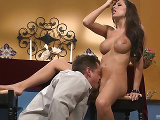after oral sex Kortney Kane is get-at-able around take a cock deep inside the brush cunt