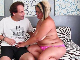 Fat MILF SinFul Celeste Mounts Hard Cock