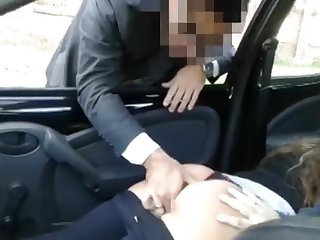 Hot babe with heavy bubble ass - motor car porn video