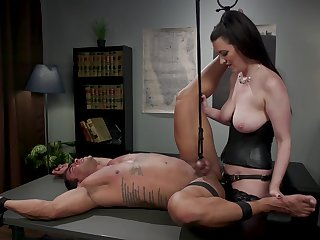 Dominant Cherry Torn wants to chew out her lover helter-skelter BDSM sex game