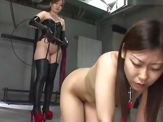 Nice nude Japanese girl severely tortured together with whipped 1/2