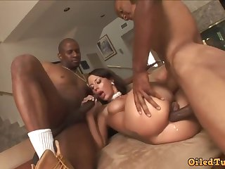 Lusty Latina close by big jugs, May Nichole, gets drenching on close by a pair