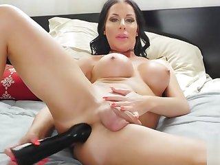 Marissa pounding A humongous dildo!