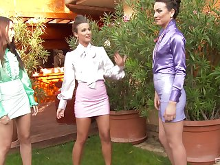 Of a male effeminate threesome with Amirah Adara gives the thump apogee ever