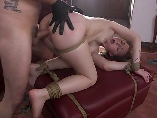 Jenna Clove gets anal fucked in merciless BDSM enactment