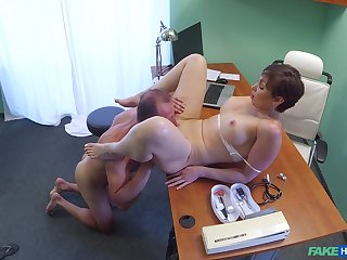 Yasmin Scott gets fucked by hard doctor's dick on the hospital's periphery