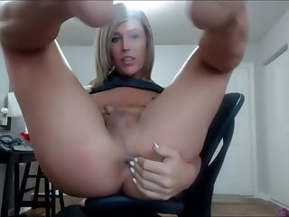 Cute Young SheMale fingering her asshole