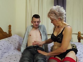 Horny grown up Lady Sextacy wants to show their way sexual skills to a guy