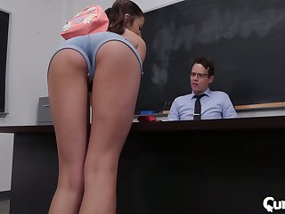 Sophomore student Adria Rae gets her pussy demolished and fucked right on be imparted to murder table