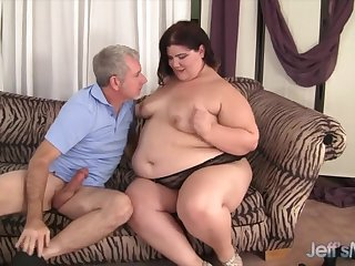 Fatty brunette plumper sucks hard dicks so amenable all the way work on her throat