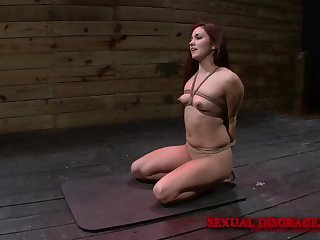 Before a doggy tied unreserved Stella May was on their way knees blowing a hard cock