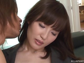 Misaki Kohanai gets her pussy licked increased unconnected with fucked unconnected with her horny lover
