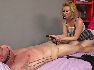 Brutal and painful dick torture session away from blonde Cherry Torn