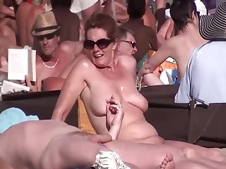 I Spy On Curvy MILFs on Nude Beach