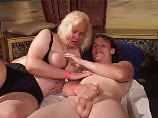 Group lovemaking with old chubby whores