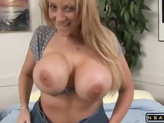 Huge knockers MILF takes 2 monster black cocks