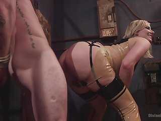 Face seated porn added to femdom XXX with a hot blonde