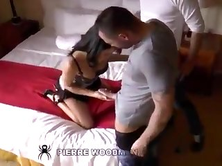 A misapplied double penetrations with a sizzling 18yo darkhaired babe