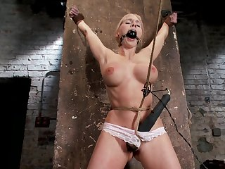Brutal torture session with blonde chick Christie Stevens who enjoys quickening