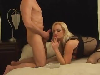 The unrestricted Smoking Mandy blowing sexy mend