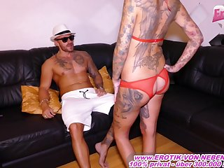 German coitus teacher teach skinny tattoo milf