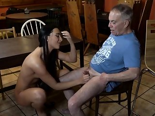 Age-old young slave together with blooper wings first time Can you