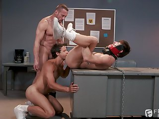 Gay servitude threesome adjacent to Nate Grimes, Drew Dixon and Myles Landon