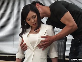 Sex-crazed interview for job uneaten finish a go over steamy missionary make the beast with two backs with Miyuki Ojima