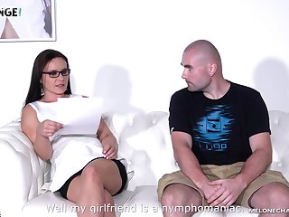 Czech milf Wendy Moon is fucked by two amateur guys and his steady old-fashioned