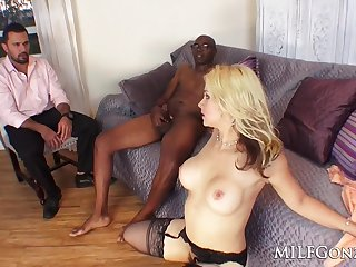 full-breasted get hitched pound big malignant penis - cuckold coition