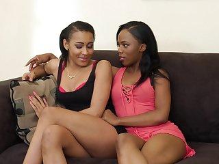 Black lesbian couple is testing new sex trinket